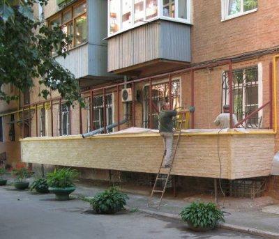 Пристроить балкон на первом этаже сколько стоит в омске