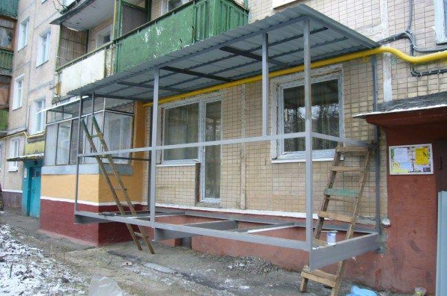 Как узаконить балкон на первом этаже